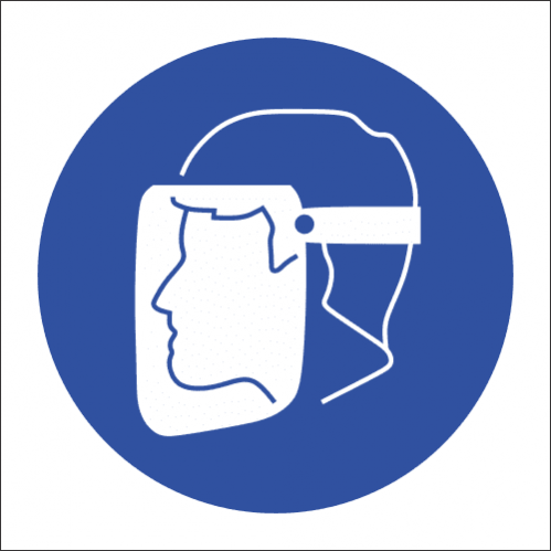 MV10N - Face Protection Safety Sign