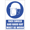 MA2E - Face Shield and Hard Hat Explanatory Safety Sign