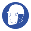 MA2 - Face Shield And Hard Hat Safety Sign