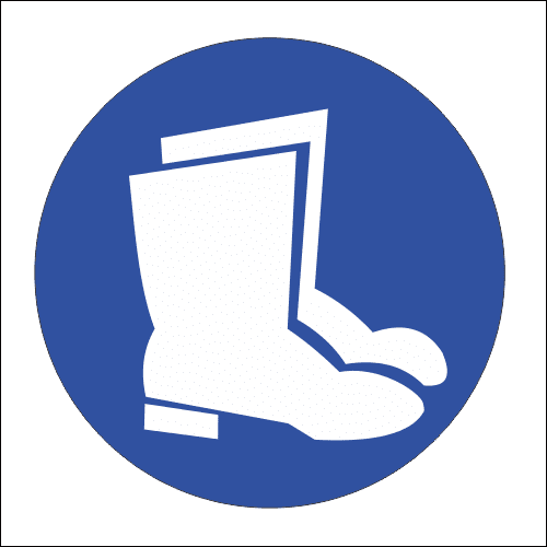 MV6 - Foot and Leg Protection Safety Sign
