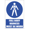 MV18E - Full Body Harness Explanatory Safety Sign