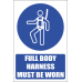 MV18EN - Full Body Harness Explanatory Safety Sign