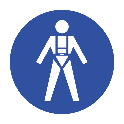 MV18 - Full Body Harness Safety Sign