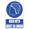 MV26EN - Hair Net Explanatory Safety Sign
