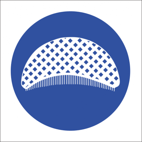 MV26 - Hair Net Safety Sign