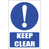 MA33 - Keep Clear Safety Sign