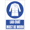 MV21EN - Lab Coat Safety Sign