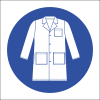 MV21N - Lab Coat Safety Sign