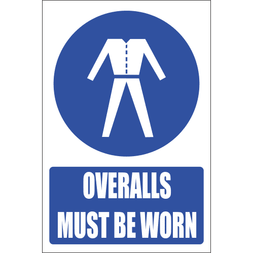 MV20E - Overalls Explanatory Safety Sign