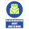 MV25EN - Reflective Jacket Explanatory Safety Sign