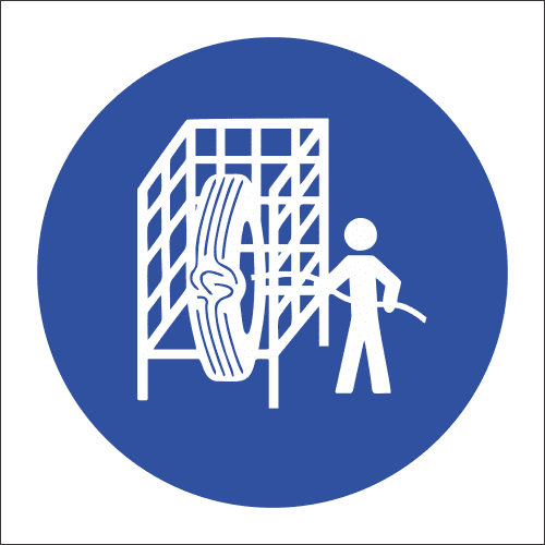 MV16 - Safety Cage Safety Sign