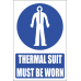 MV24E - Thermal Suit Explanatory Safety Sign