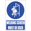 MV15E - Welding Screen Explanatory Safety Sign