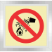 F25 - SABS Water Prohibited As Extinguishing Agent Photoluminescent Sign (Glow In The Dark) - 190x190mm
