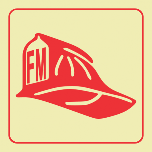 F50 - Fire Marshal Photoluminescent Sign (Glow In The Dark)