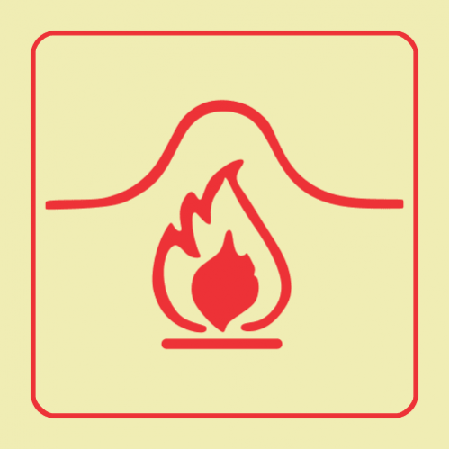 F35 - Fire Blanket Photoluminescent Sign (Glow In The Dark)