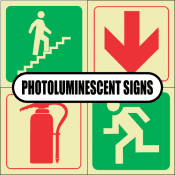 Standard Photoluminescent Signs (SABS Approved)