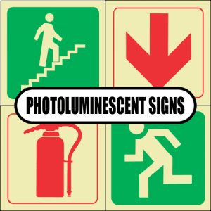 Standard Photoluminescent Signs