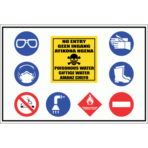 PO11 - No Entry Poisonous Water Sign