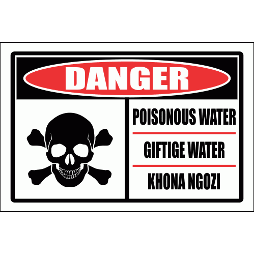 PO5 - Poisonous Water Sign