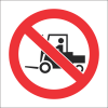 PV10 - SABS No Forklift Safety Sign