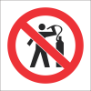 PV11 - SABS No Air Dusting Safety Sign