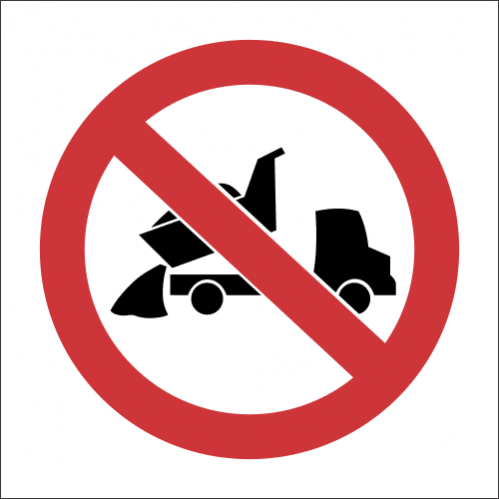 PV13 - SABS No Dumping Safety Sign