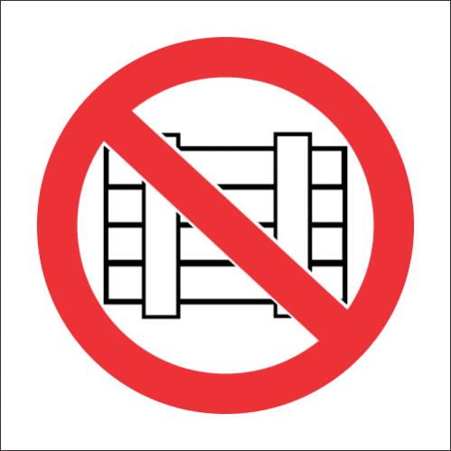 PV14 - SABS Do Not Obstruct Safety Sign