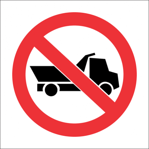 PV15 - SABS No Heavy Vehicles Safety Sign