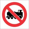 PV17 - SABS No Locomotives Safety Sign