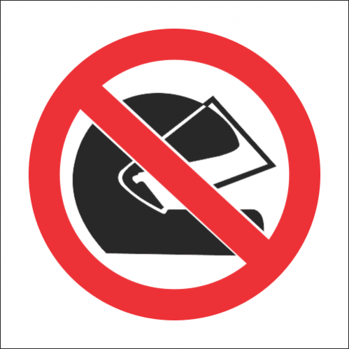 PV18 - SABS No Helmets Safety Sign