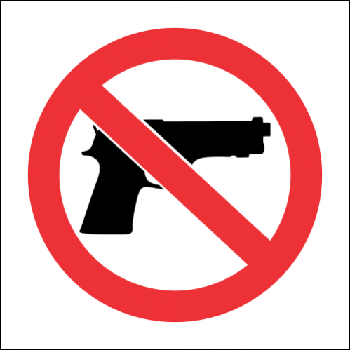 PV19 - SABS No Firearms Safety Sign