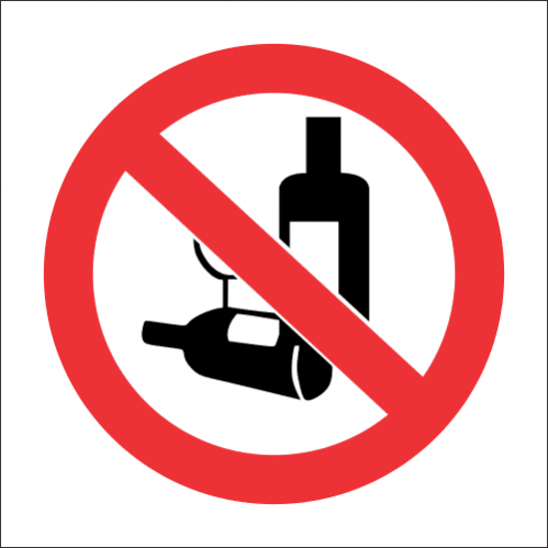 PV22 - SABS No Alcohol Safety Sign