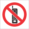 HWS003 - No Cellphones Hazchem Warning Sign