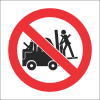 PV29 - SABS No Lifting On Forklift Safety Sign