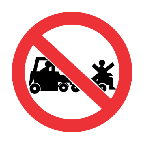 PV30 - SABS No Lifting On Trolleys Safety Sign