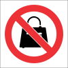 PV31 - SABS No Handbags Safety Sign