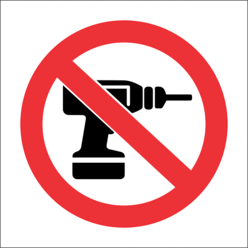 PV32 - SABS No Drilling Safety Sign