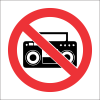 PV36 - SABS No Loud Music Safety Sign