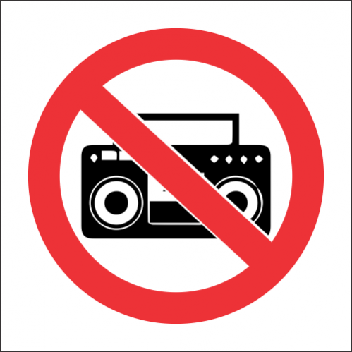 PV36 - No Loud Music Safety Sign - SABS