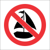 PV39 - SABS Sailing Prohibited Safety Sign