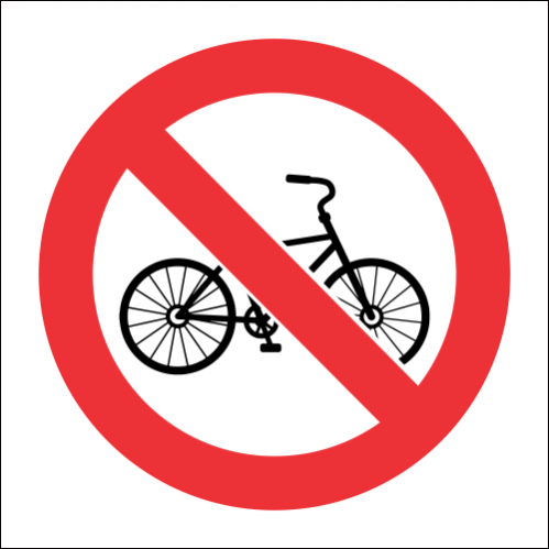 PV7 - SABS No Cycling Safety Sign
