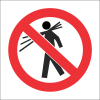 PV8 - SABS No Carrying Safety Sign