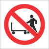 PV9 - SABS No Hand Trolleys Safety Sign