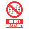 PV14E - Do Not Obstruct Explanatory Safety Sign