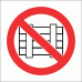 PV14 - Do Not Obstruct Safety Sign