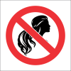 PR33 - No Loose Hair Sign