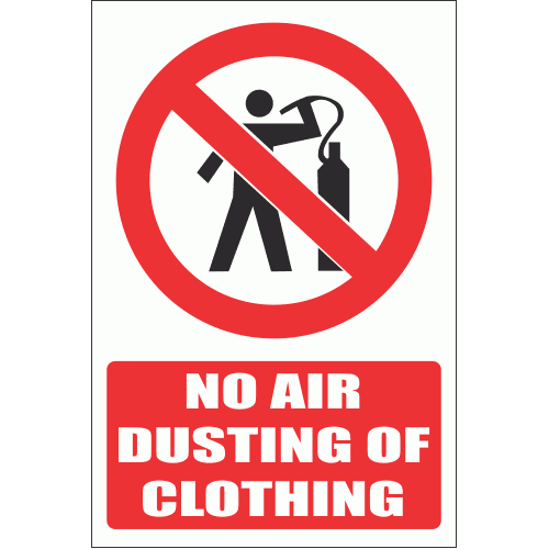 PV11E - No Air Dusting Explanatory Safety Sign