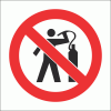PV11 - No Air Dusting Safety Sign