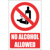 PV22E - No Alcohol Explanatory Safety Sign